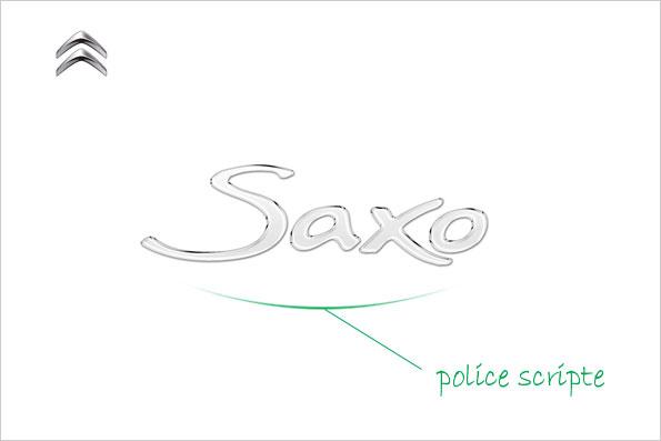 Exemple 3 : Modèle utilisant une police scripte