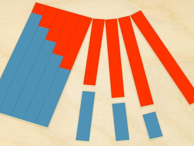 Tables à Bandes pour l'Addition de Montessori : Modèle en Carton