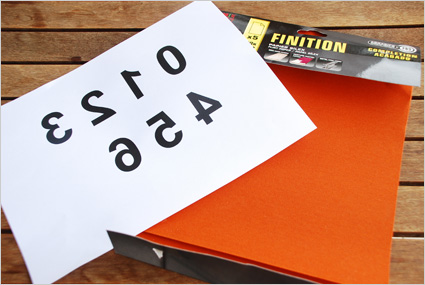 Imprimer des chiffres à l'envers sur du papier classique 75g