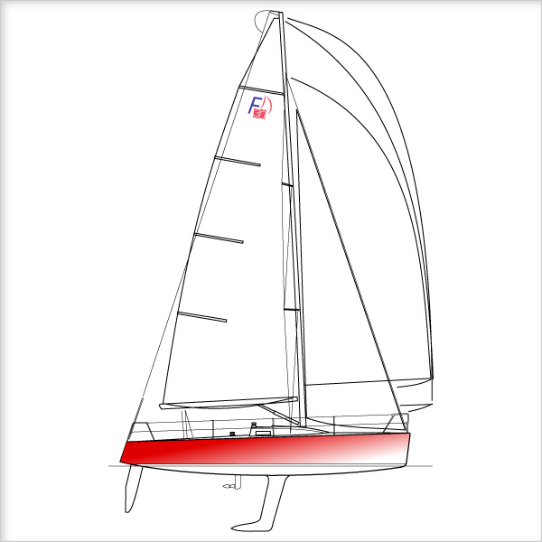 Le bateau engagé sur Le Tour de France est un monotype Farr 30