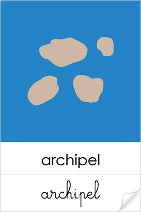 Archipel Geographie Montessori