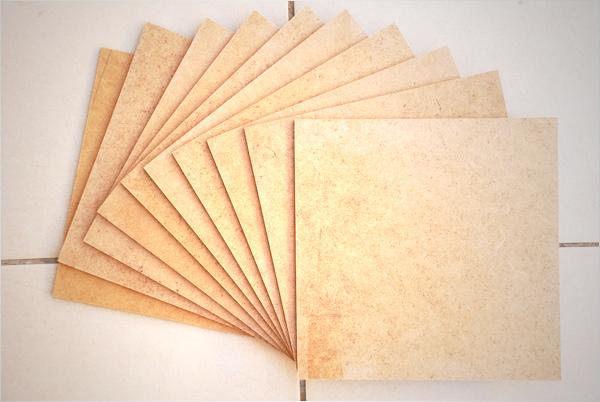 Nous obtenons ainsi 10 plaques carrées mesurant 20 cm x 20 cm.