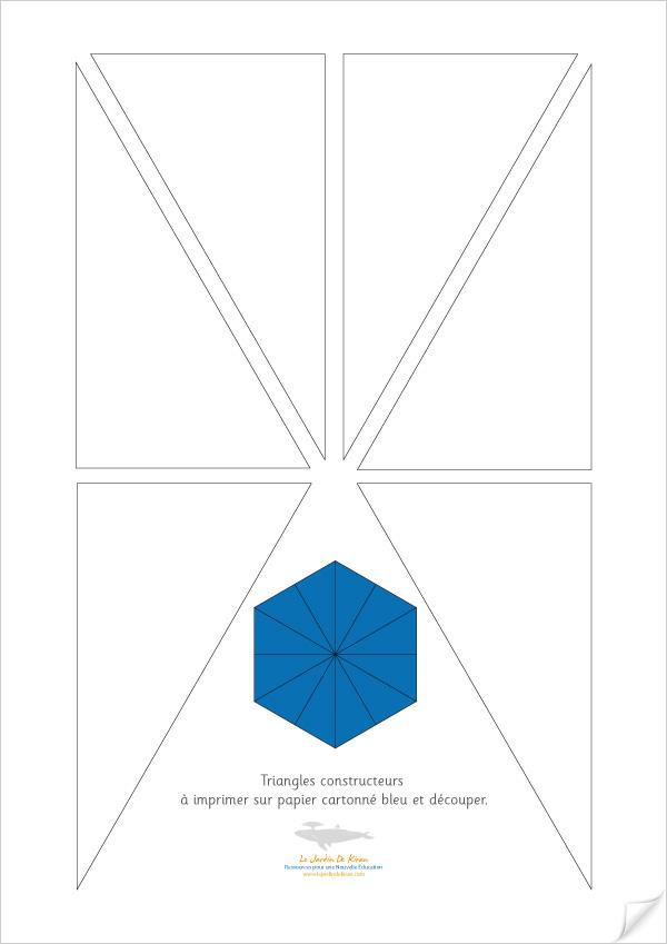 Modèles pour Triangles Constructeurs de Montessori