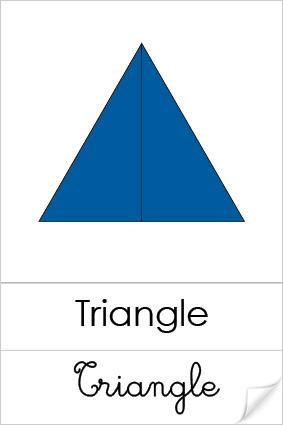 Triangle Contructeurs Bleus Montessori
