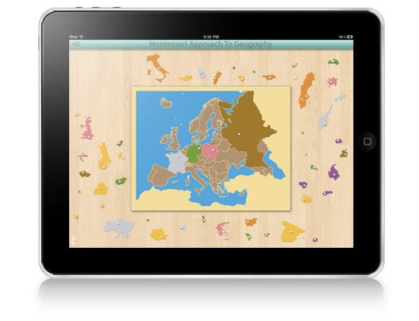 Approach To Geography ipad Montessori