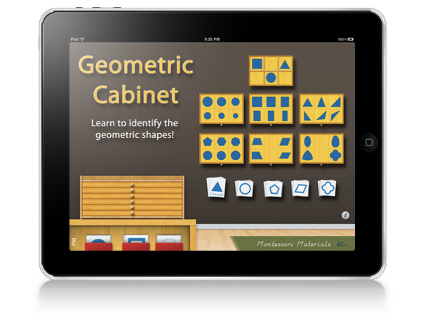 Geometric Cabinet Montessori iPad