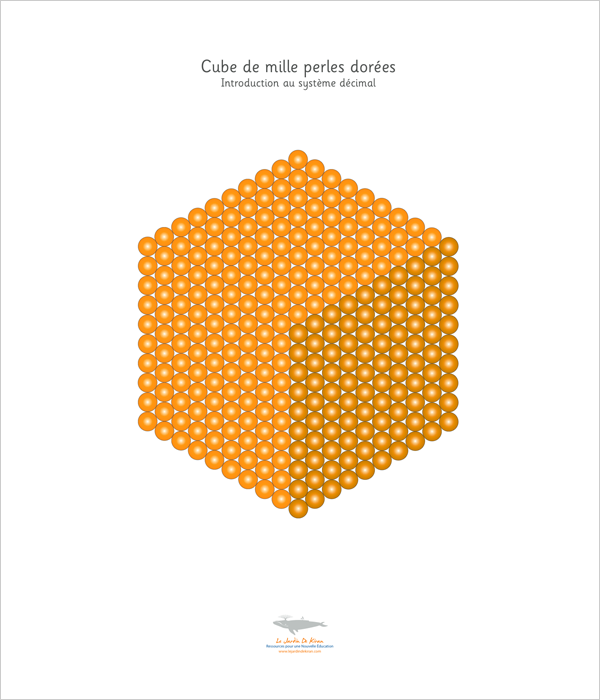 Perles dorées de Montessori à imprimer