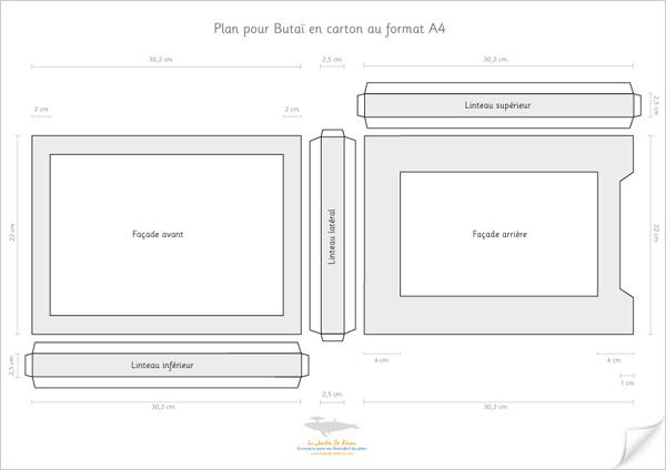 Plan de butai au format a4 le jardin de kiran - Fabriquer un chandelier en carton ...