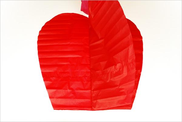 réalisation de la poche en forme de coeur
