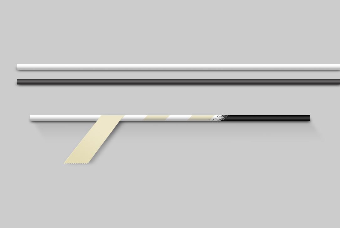 Mobile de Munari - Mise en peinture des baguettes