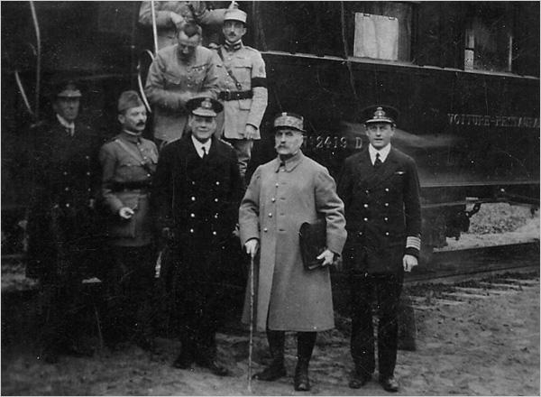 Signature de l'armistice à la clairière de Rethondes