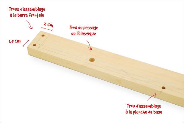 Perçage barre latérale
