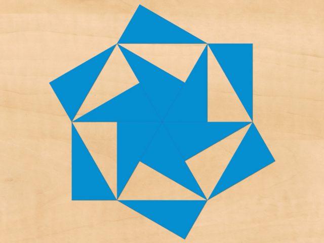 Fabriquer les Triangles Constructeurs Bleus de Montessori : Modèles en Carton