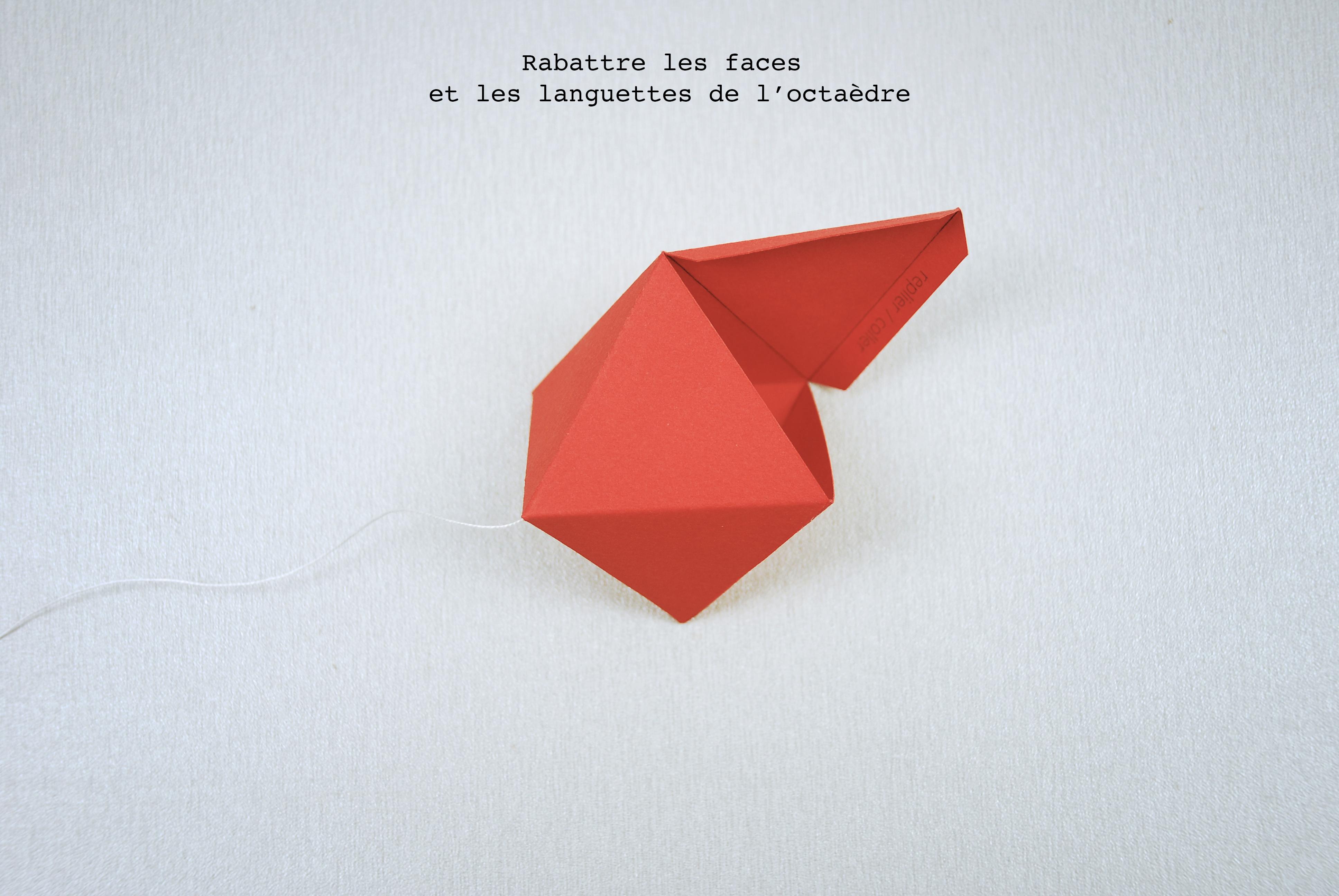 Pliage pour le mobile des octaèdres