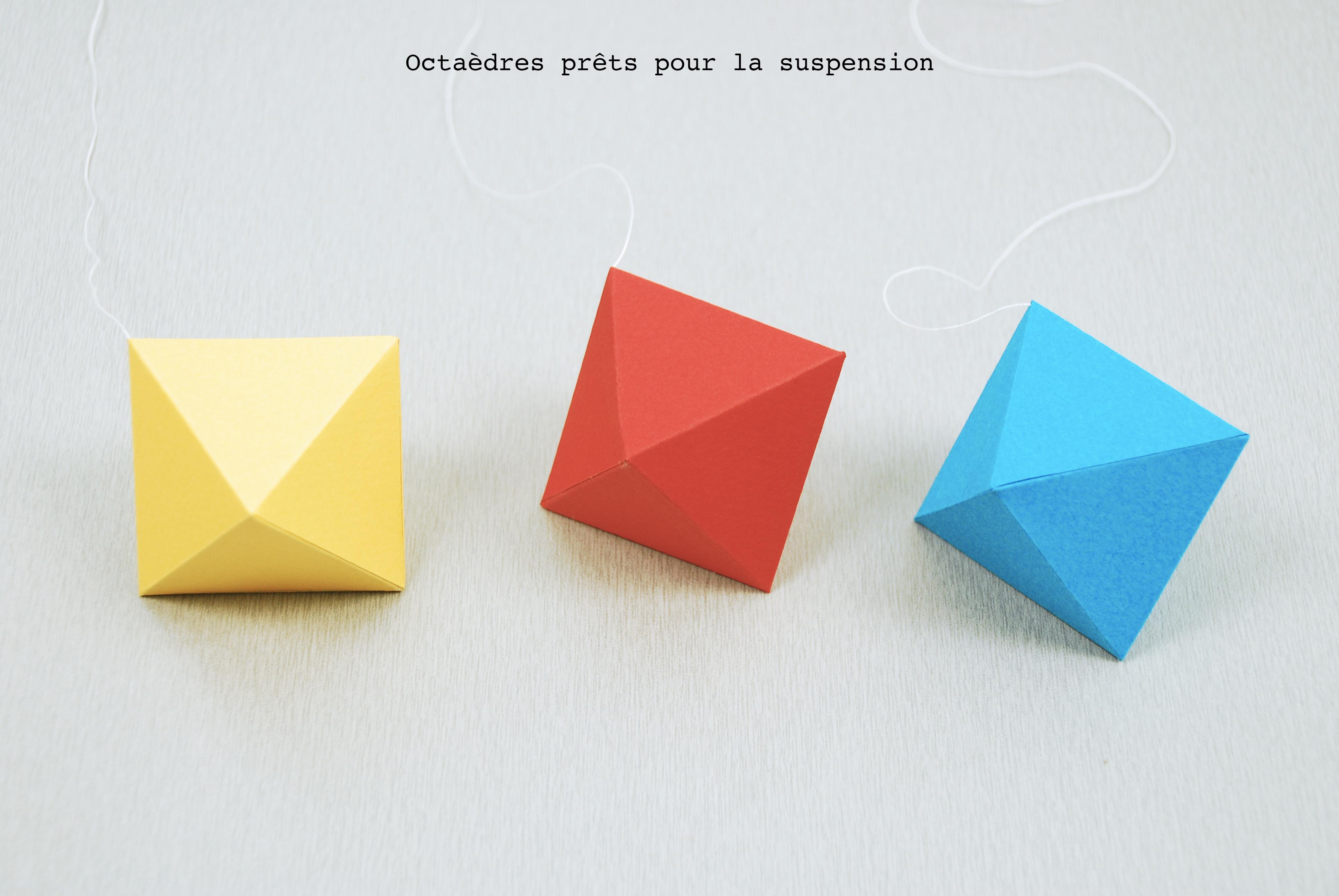 Éléments pour le mobile des octaèdres