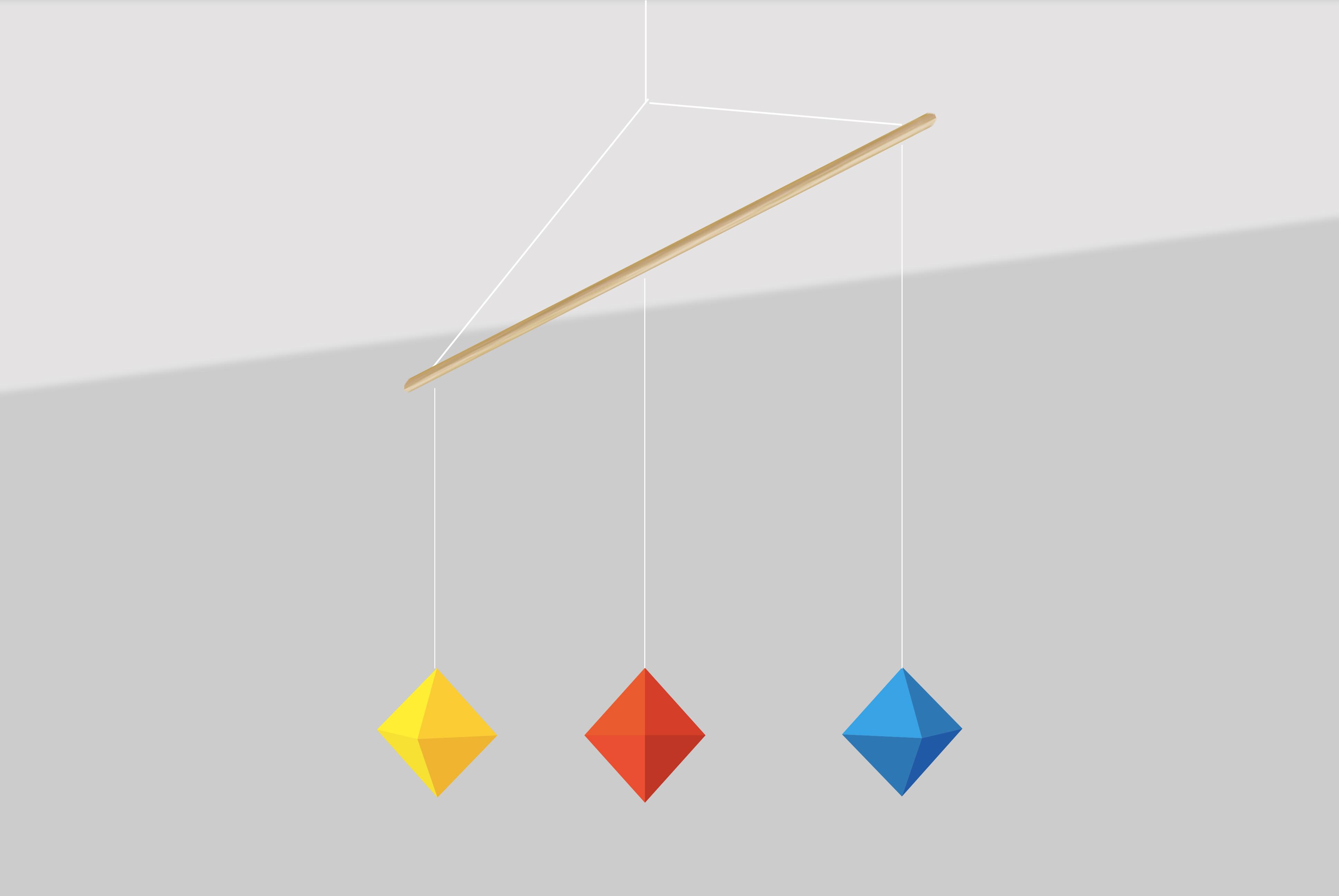 Mobile de Montessori - Mobile des octaèdres