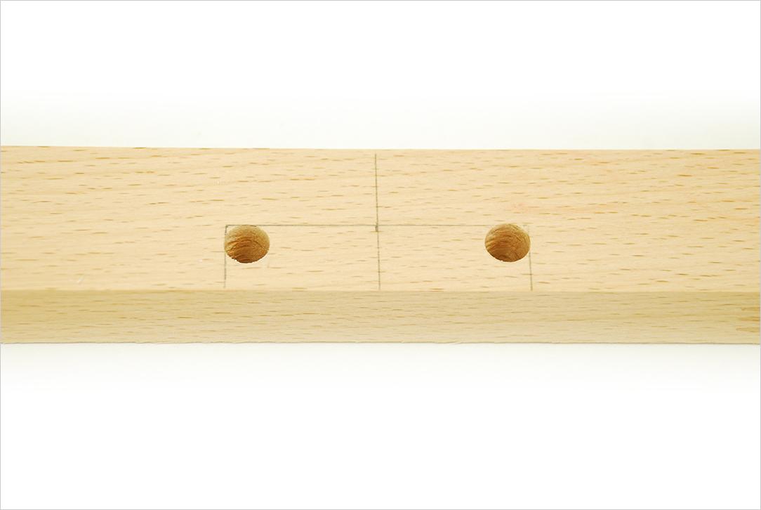 Découpe de la trappe pour la fabrication d'un Passe-trappe