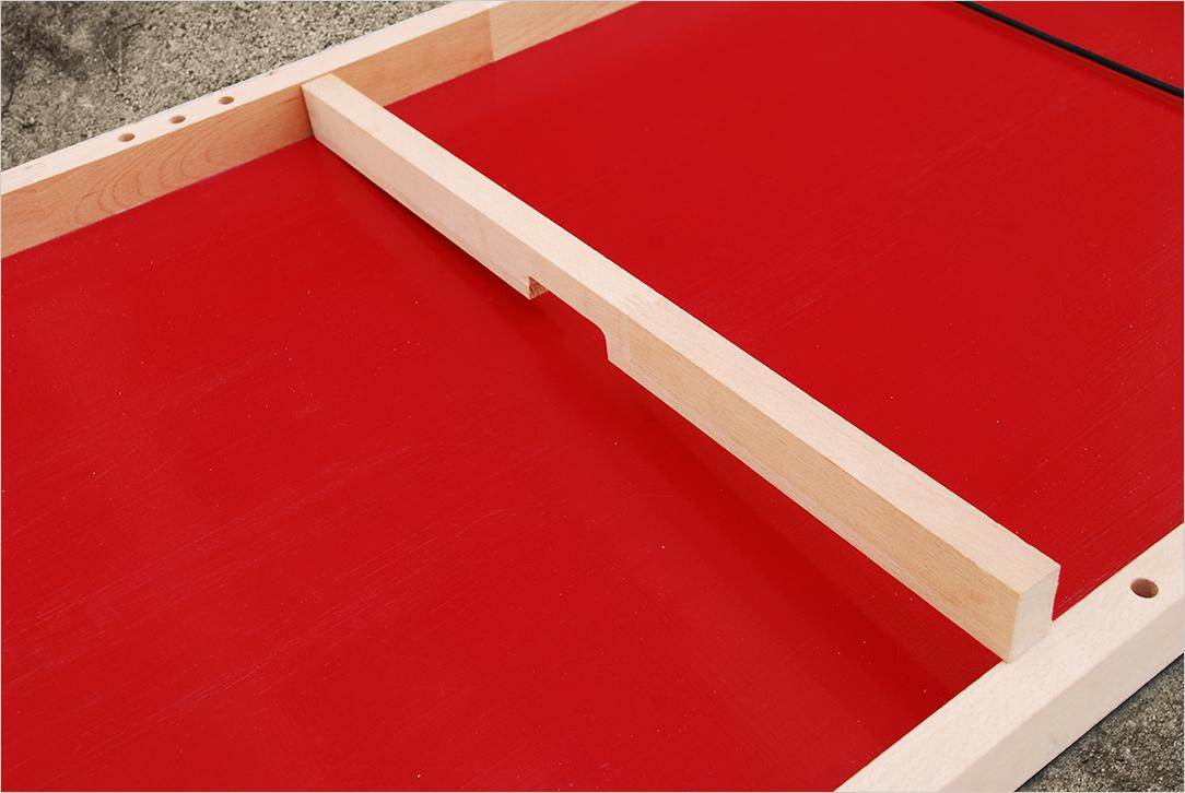 Installation de la barre centrale pour la fabrication d'un Passe-trappe