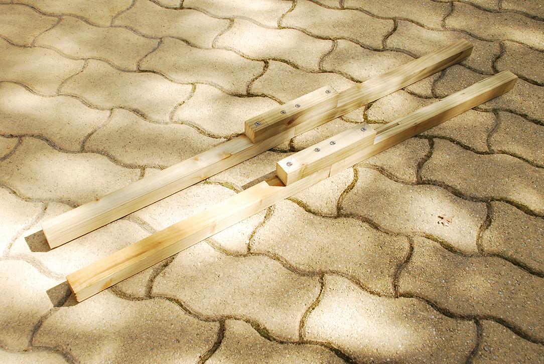 Composteur pédagogique - Traverses de structure