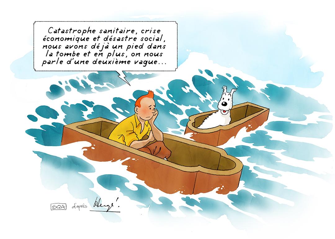 Parodies Tintin Covid 19