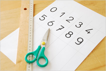 Imprimer des chiffres de 0 à 9 avec une police scolaire