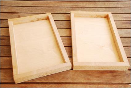 Réaliser ainsi les rebords des deux boîtes de fuseaux