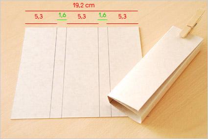 Utiliser du papier cartonné pour confectionner l'étui