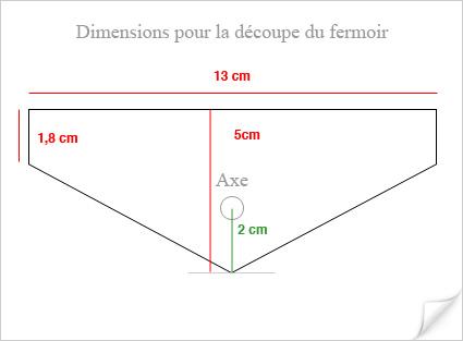 Dimensions du Fermoir