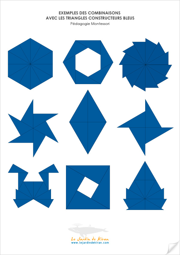 Exemples Triangles Bleus Montessori