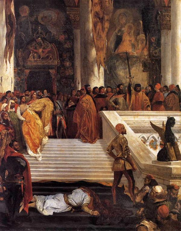 L'Exécution de Marino Faliero par Eugène Delacroix