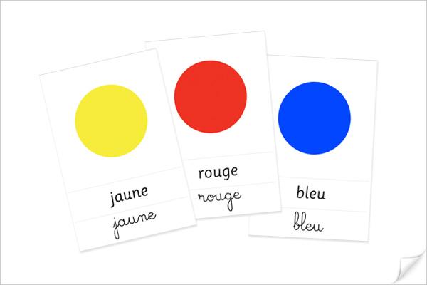Fiches de nomenclature des couleurs