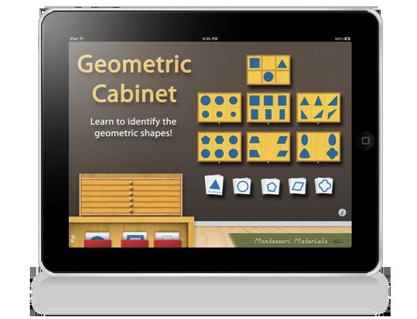 Geometric Cabinet Montessori iPad