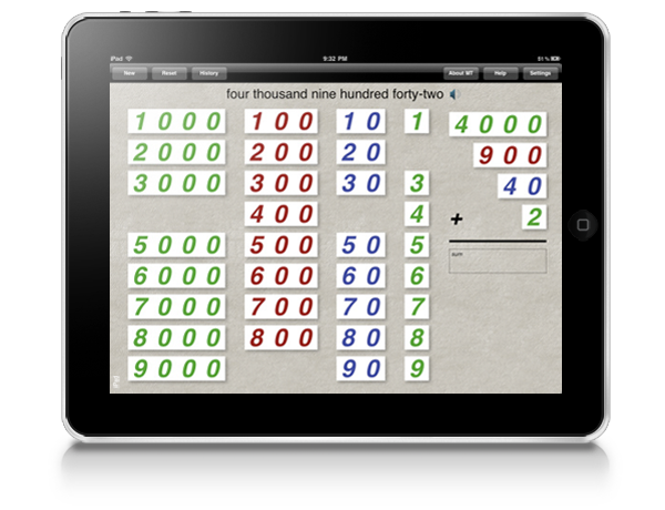 Place Value Montessori iPad