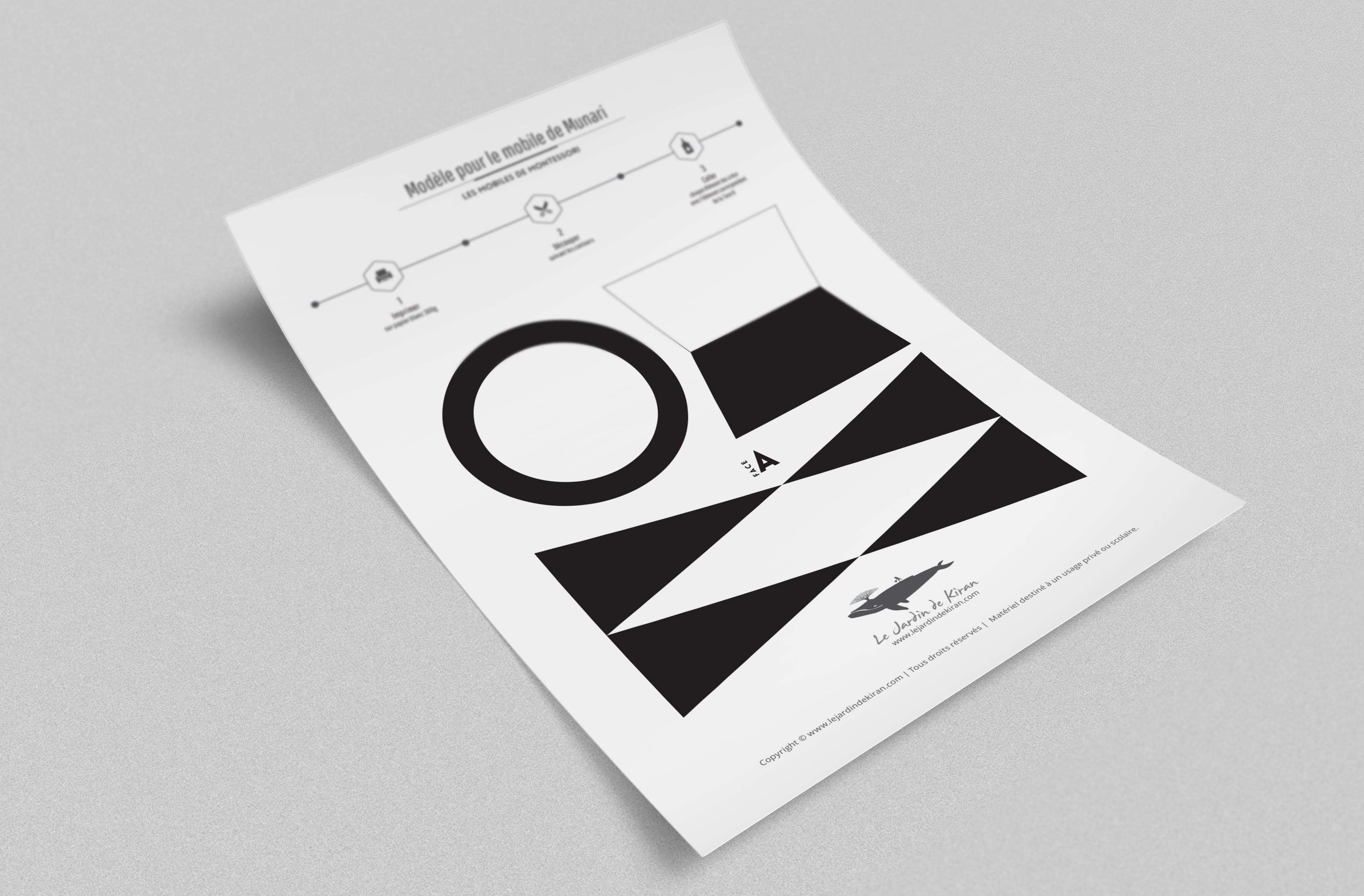 Feuillets à imprimer pour le Mobile de Munari