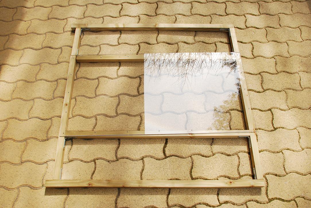 Composteur pédagogique - Montage de la fenêtre