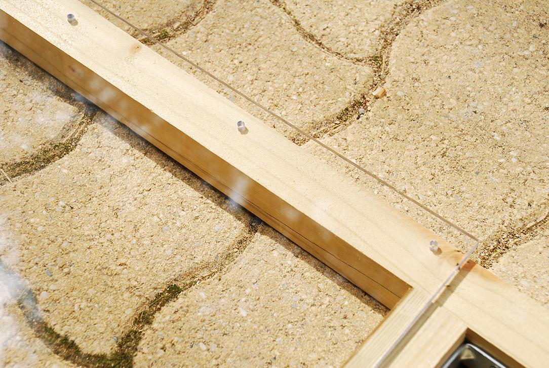 Composteur pédagogique - Perçage de la plaque de plexiglas
